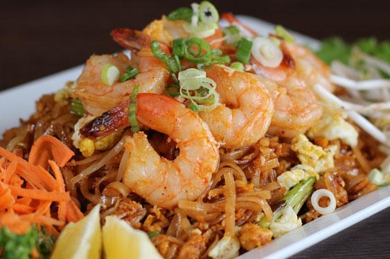 Asian noodle dish at aspen restaurant photos 864